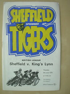 SHEFFIELD-v-KING-039-S-LYNN-4th-JUNE-1970-SPEEDWAY-PROGRAMME-BRITISH-LEAGUE