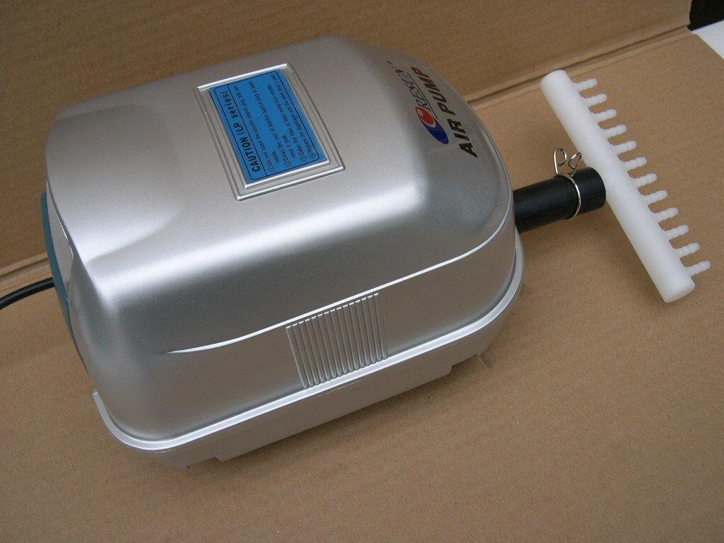 Gartenteich - Luftpumpe Sauerstoffpumpe 3000 l h Teichdurchlüfter Teichbelüfter