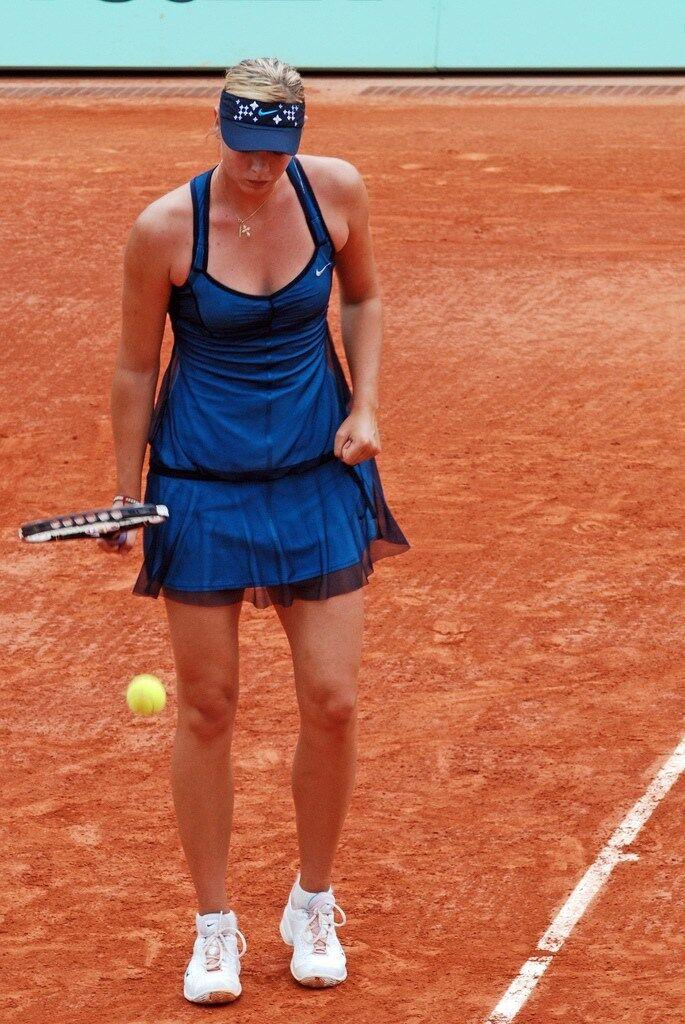 SEXY  NIKE MARIA SHARAPOVA STUNNING TAFETA blueE FRENCH OPEN TENNIS DRESS S SMALL