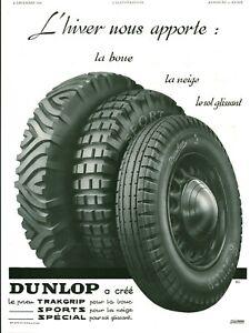 Publicite-ancienne-accessoire-automobile-pneu-Dunlop-1936-issue-de-magazine