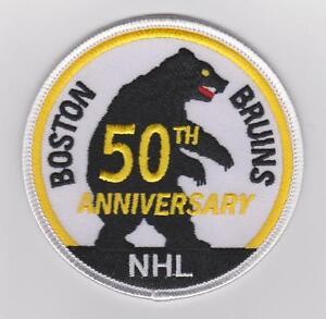 NHL-BOSTON-BRUINS-50TH-ANNIVERSARY-PATCH-RARE
