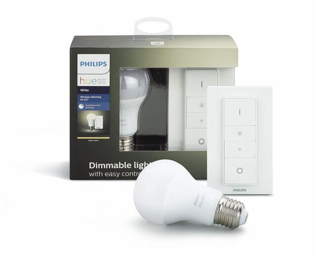 Philips 3 Ampoules LED avec Interrupteur Sans fil et pont Sans Câblage NOUVELLE
