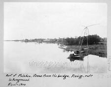 "Photo 1900s Malabon Rizal Philippines ""Fishing Raft"""