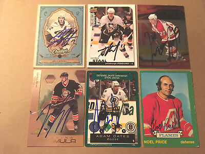 Sports Mem, Cards & Fan Shop Adam Oates Signed 95/96 Playoff One On One Card Boston Bruins #9 High Resilience