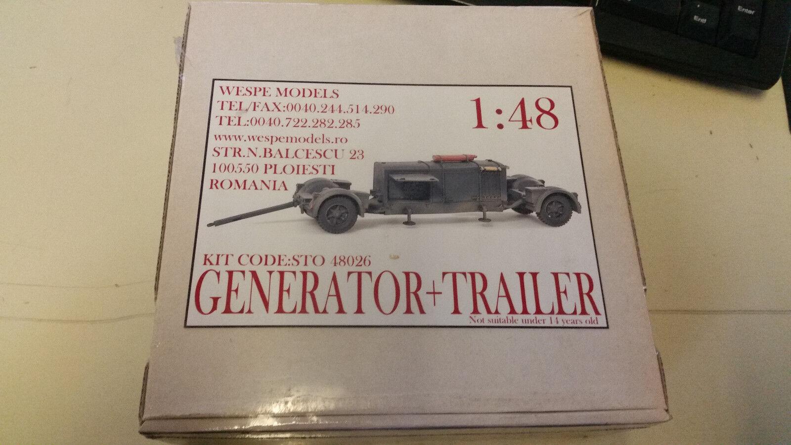Generator Generator Generator Trailer Wespe Resin Models 1 48 Sto 48026 f8619b