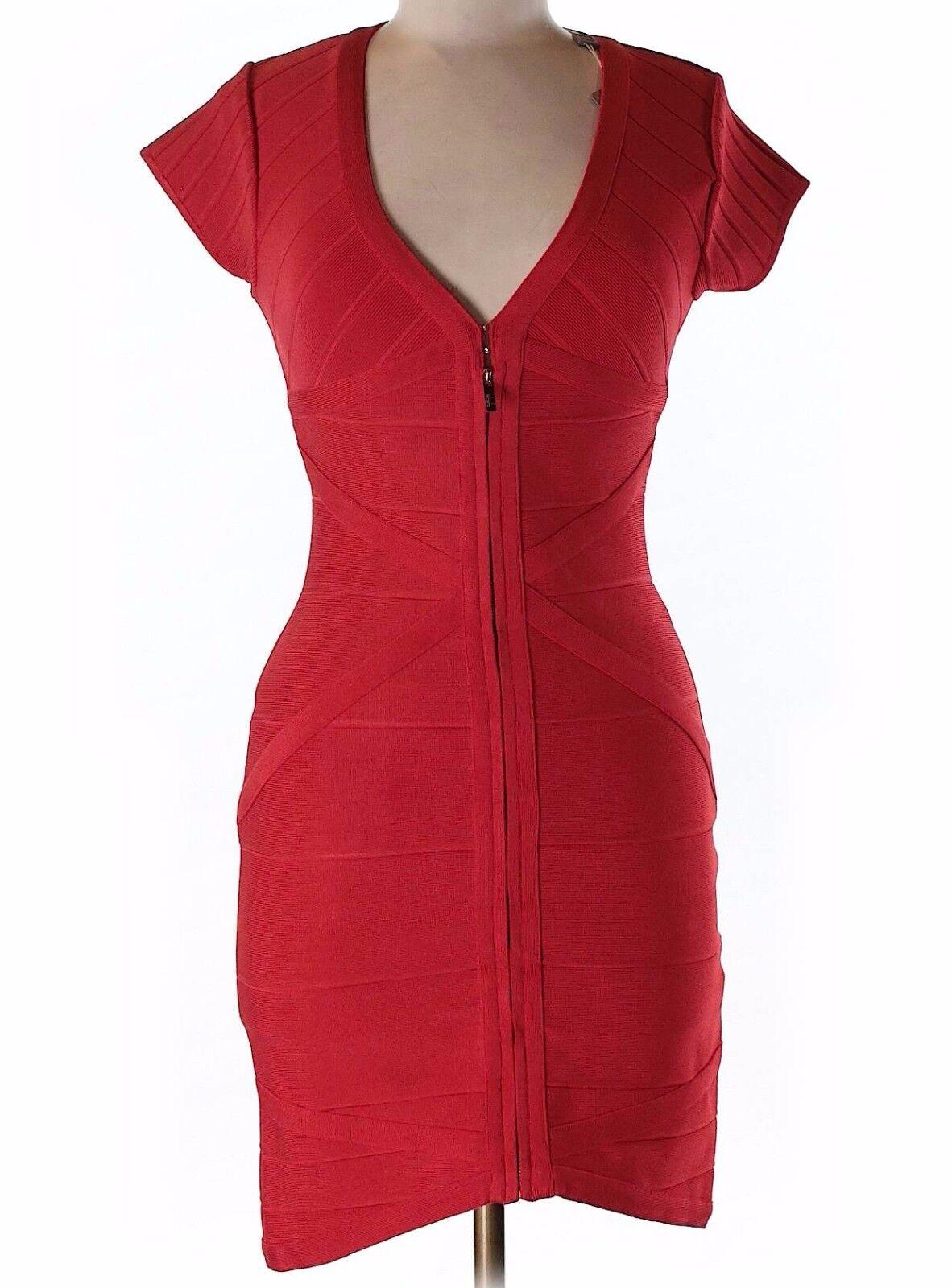 Neuf Avec étiquettes Rouge Stretta Forme Ajustée Silhouette Robe Taille M