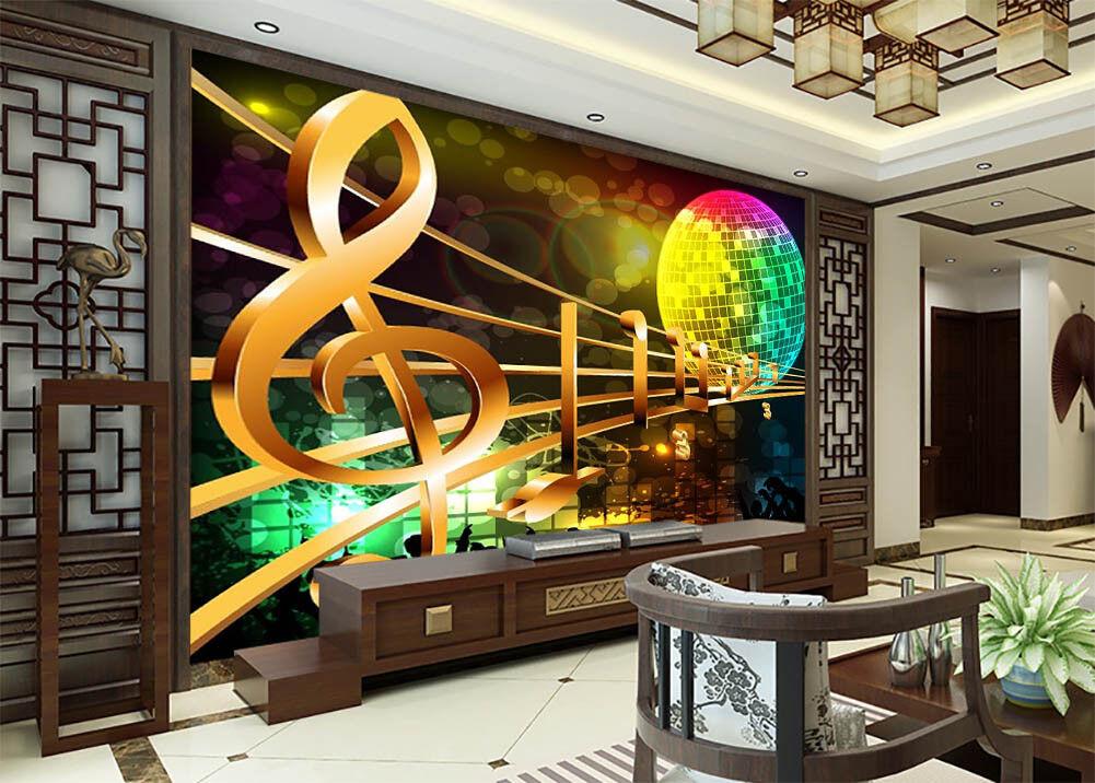 Beautiful Music Earth 3D Full Wall Mural Photo Wallpaper Print Home Kids Decor