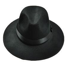 Bowler Floppy Cloche Bowknot Felt Fedora Style Hat LW