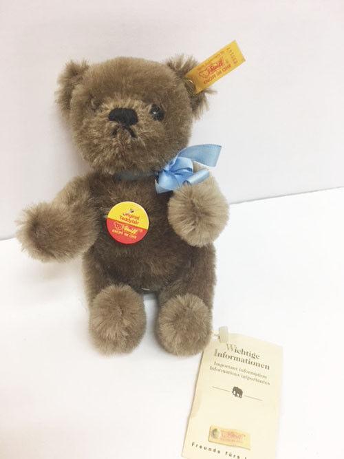 Steiff Original Mohair 6  Jointed Stuffed Teddy Bear 030147 With Tag