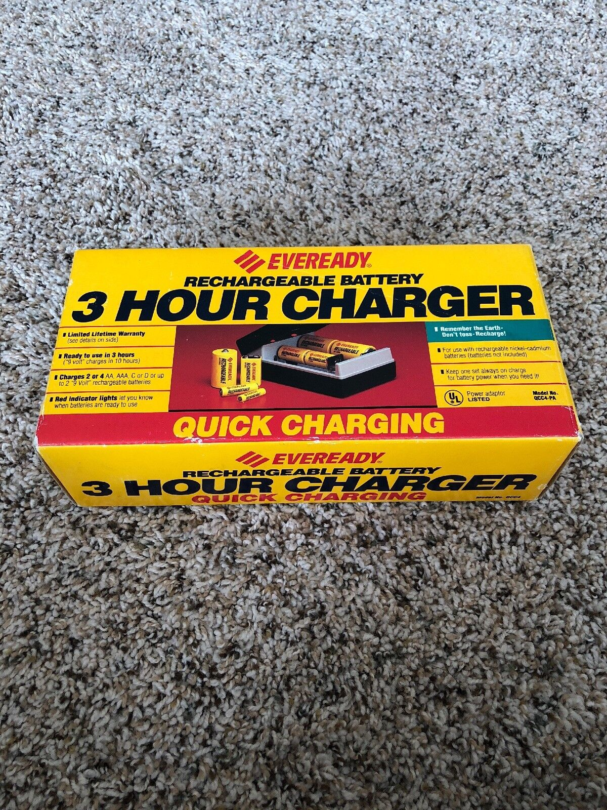 Eveready 3 Hour Charger Rechargeable Battery Quick Charging