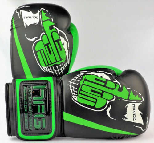 8oz Havoc Quality Boxing Gloves Syn Leather Off Kickboxing MuayThai Training