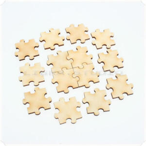 Details about 50pcs Wooden Mixed Decor Stars Heart Card Puzzle Making  Scarpbooking DIY Pieces