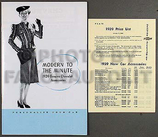 13c5af61a08f 1939 Chevrolet Accessory Catalog Set 39 Chevy Car With Pictures and Part  Numbers for sale online