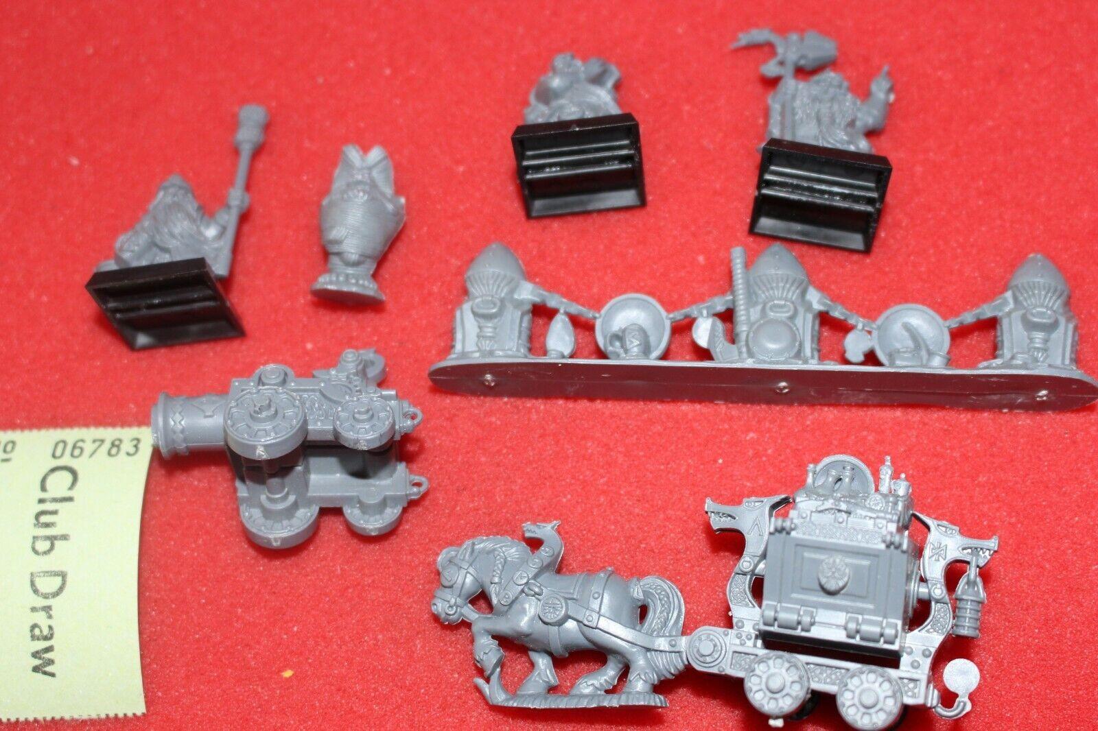 Games Workshop Warhammer Dwarf Great Cannon Pony Scenery Engineer Dwarves BFSP