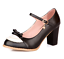 Women-Bowknot-Ankle-Strap-Heels-Retro-Mid-Chunky-Round-Toe-Mary-Jane-Shoe-Lolita thumbnail 10