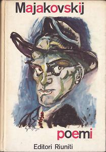 LIBRO-Majakovskij-Poemi-editori-Riuniti-EDIZIONE-ILLUSTRATA-1963-MOLTO-RARO