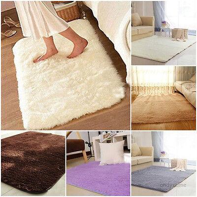 Absorbent Soft Shaggy Foam Rug Non-slip Bedroom Bathroom Carpet Shower Floor Mat