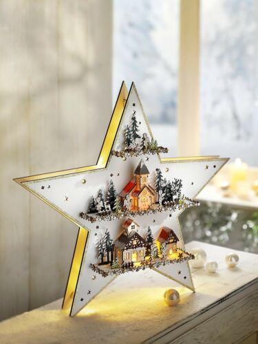 Schwibbogen Lichterbogen Spieluhr Stern Holz Weihnachten Deko Weihnachtsstern