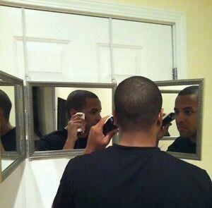 Three 3 Way Mirror Self Haircut Cut System Ebay