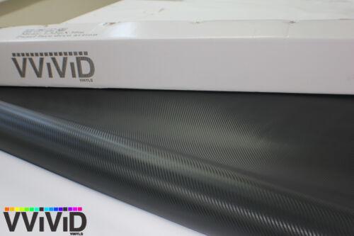 Vvivid 5ft x 10ft Black Carbon Fiber Vinyl Wrap Decal