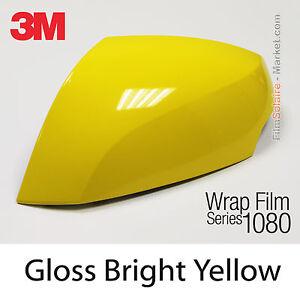 152x300cm FILM Leuchtendes Gelb Glänzend 3M 1080 G15 Vinyl ABDECKUNG Car
