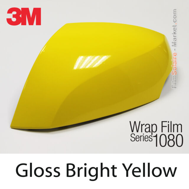 10x20cm FILM Gloss Bright Yellow 3M 1080 G15 Vinyl COVERING Car Wrapping