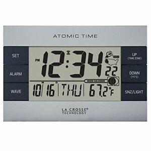 La-Crosse-Technology-617-1280-Atomic-Digital-Alarm-Clock-Silver