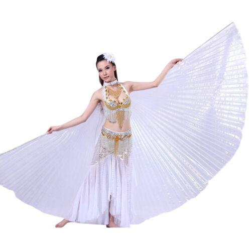Exotic Belly Dance Colorful Belly Dance Big Isis Wings Costume Props Silver Red