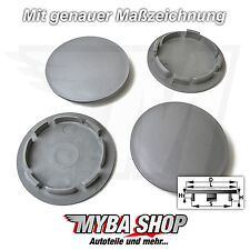 4x Nabenkappen Felgendeckel 63 / 54mm in Grau für Audi Seat Skoda VW Felgen