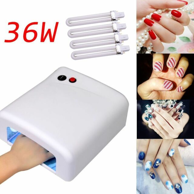 36w Pro Nail Polish Dryer Lamp LED UV GEL Acrylic Curing Light Spa ...