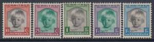LUXEMBOURG-1931-cv-120-MH-Caritas-Yv-234-238-Mi-240-244