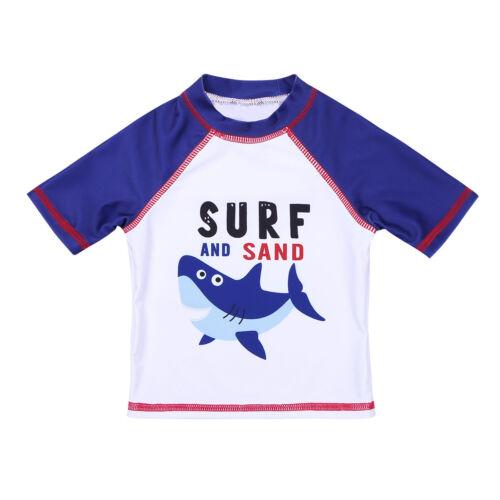 Kids Boys Shark Swimsuit Costume Swimwear Bathing Suit Rash Guard Tankini Set