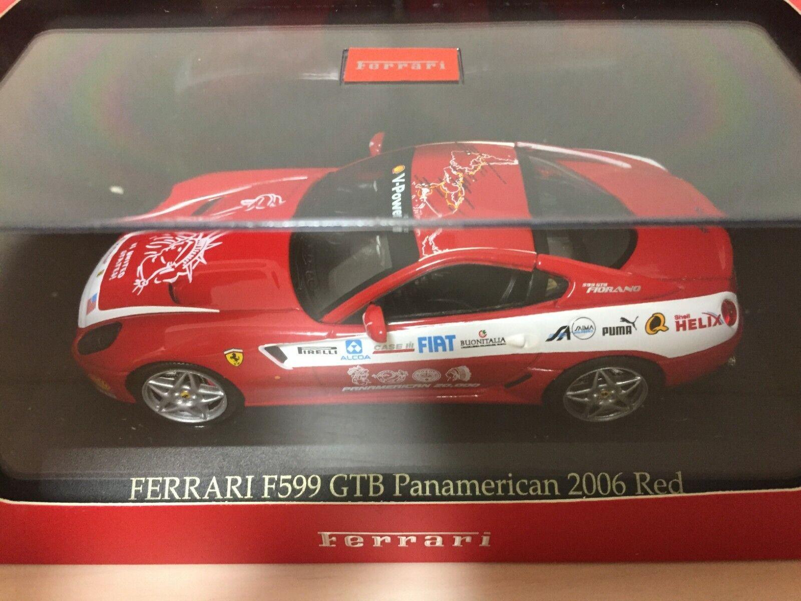 NEW IXO FERRARI F599 GTB Panamerican 2006 RED RED RED 1 43 From Japan F S 8141b5
