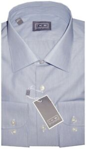 NEW-IKE-BEHAR-BLUE-MICRO-STRIPE-CLASSIC-FIT-DRESS-SHIRT-17-5-34-35