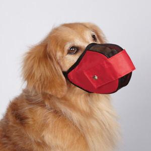Capacitacion-de-Malla-de-Nylon-Ajustable-Mascota-Perro-bozal-para-el-control-de-corteza-Morder