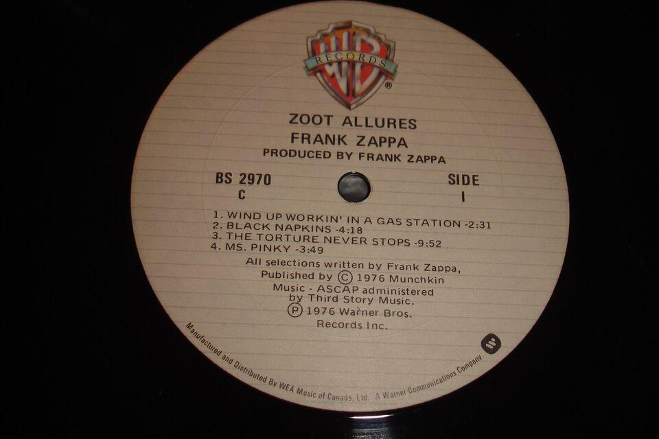 Lp Frank Zappa Zoot Allures Dba Dk K 248 B Og Salg Af