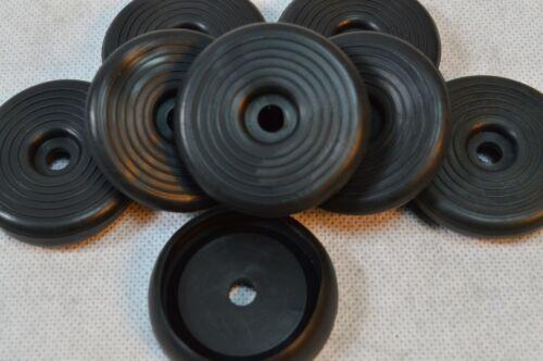 8 X Gummi Fußkappe Ø45mm f Biergartenstuhl Tisch Mainau//Peru  rund schwarz