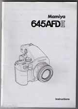 MAMIYA 645 AFD II BODY INSTRUCTION MANUAL (ORIGINAL PRINT JAPAN/not copies)