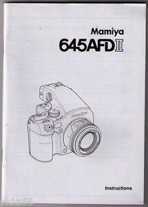 MAMIYA-645-AFD-II-BODY-INSTRUCTION-MANUAL-ORIGINAL-PRINT-JAPAN-not-copies