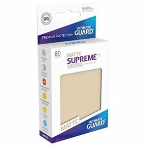 Ultimate Guard Supreme Japanese UX Card Sleeves Sand 60 Piece