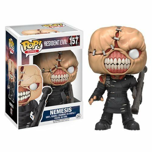 DAMAGED BOX RESIDENT EVIL NEMESIS 3.75  VINYL FIGURE POP POP POP GAMES FUNKO 157 99cc04