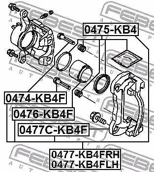 Étrier De Frein Support Set Febest 0477C-KB4F