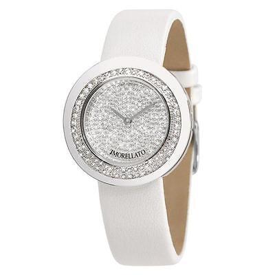 Orologio Donna Morellato Luna R0151112505 acciaio pelle bianco cristalli chic
