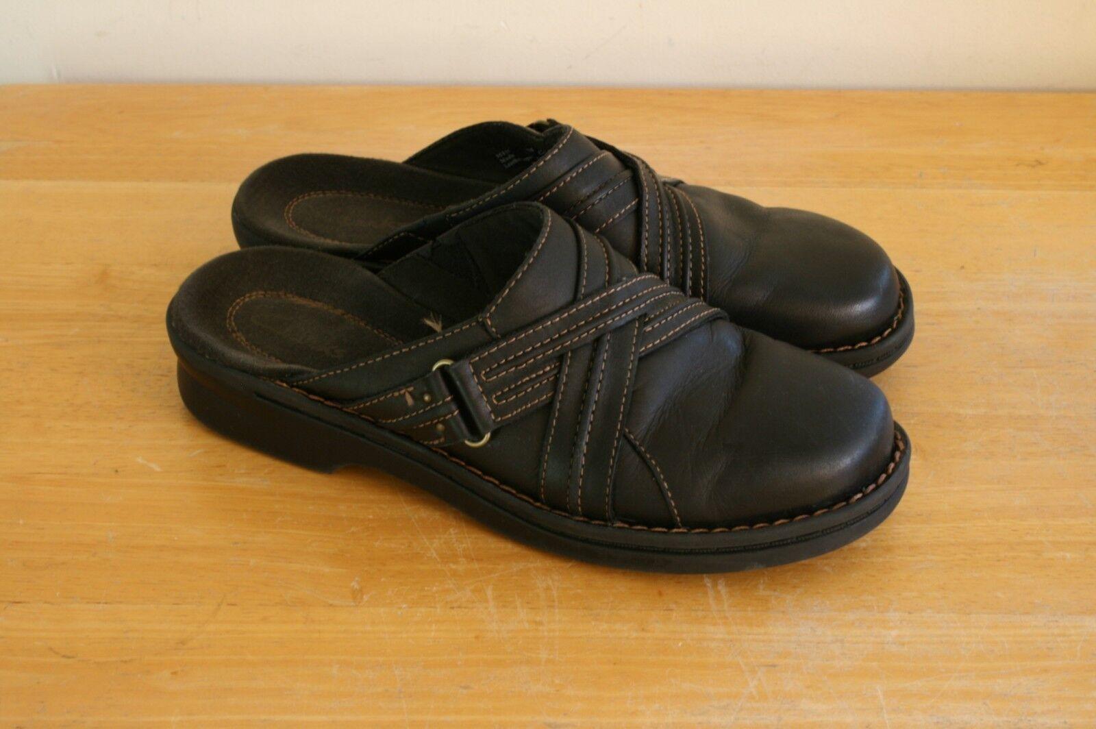 Clark's Women's Women's Clark's Brown Leather Mules Clogs Slip-On Slides Size 7  35114 a5c85f