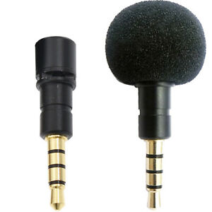 Details about MINI MICROPHONE for SMARTPHONE TABLET iPhone Android VIDEO  SOUND RECORDING APP
