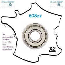 2 roulements 608zz 8x22x7mm générique, 3d print, cnc bearing