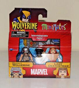 Weapon-X-Wolverine-Lady-Deathstrike-Minimates-Marvel-Wolverine-Series-72-NEW