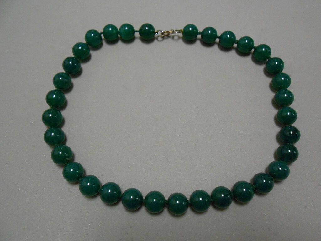 Collar AGATA green bola 12mm (C-012)