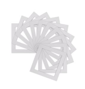Paquete-De-5-Soportes-De-Foto-Imagen-Cuadrado-Blanco-Marcos-de-Fotos-Varios-Tamanos