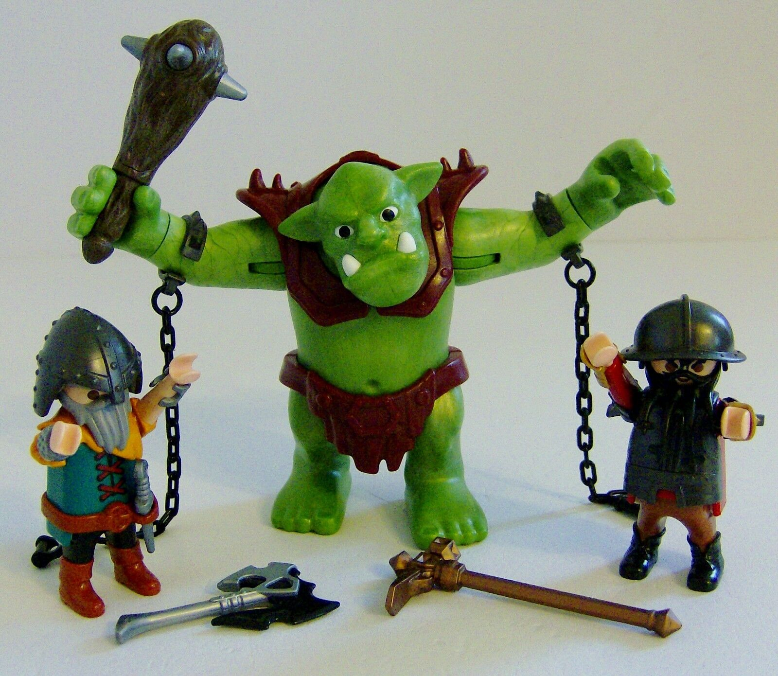 Playmobil Knights Giant Troll with Dwarf Fighter Figures 6004
